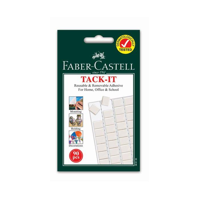 Клеящие подушечки Faber-Castell TACK-IT белые, 90шт/уп, 50г, блистер 589150