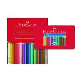 Карандаши 36 цветов Faber-Castell GRIP 2001 трёхгранные, в металлической коробке