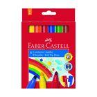 Фломастеры  6цв Faber-Castell Jumbo с клипом в карт. коробке  155208