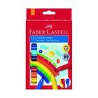 Фломастеры 12цв Faber-Castell Jumbo с клипом в карт. коробке  155212