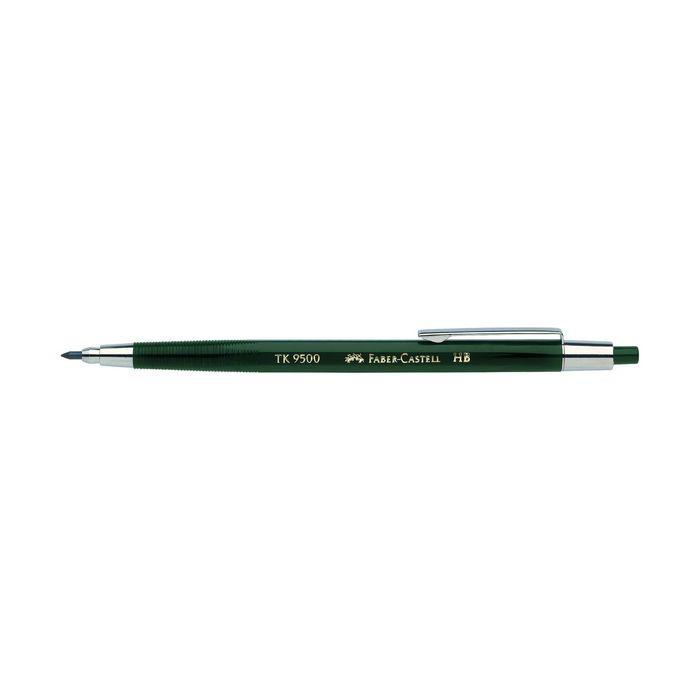 Карандаш цанговый 2.0 мм Faber-Castell TK® 9500 HB зеленый 139500
