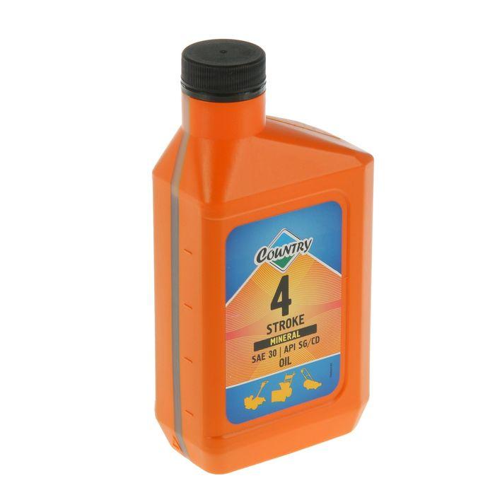 Масло четырехтактное Country минеральное SAE 30 SG/CD, 0,5 л