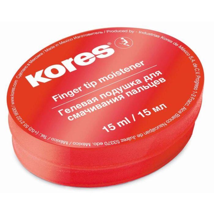 Подушка для смачивания пальцев гелевая KORES 15мл '32616
