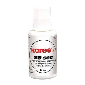 Корректирующая жидкость KORES, 20 мл на быстросохнущей основе