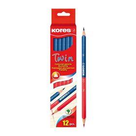 Карандаш двухцветный Kores 2.9/175мм трехгран синий/красный 94871.01 Ош