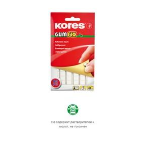 Клеящие подушечки KORES Gum Fix, удаляемые, 84 штуки в упаковке, белые