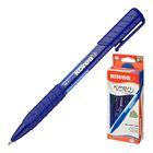 Ручка шариковая автомат KORES К6 (пишет 4.5км) 0.5, резин.упор, треуг.корп, стержень синий