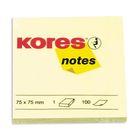Блок с липким краем Kores, 75х75 100 листов, жёлтая