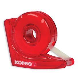 Диспенсер для клейкой ленты KORES «Улитка», красный + клейкая лента 19 мм х 33 м