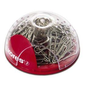 Скрепочница магнитная KORES, закрытая, с отделением для пишущих принадлежностей