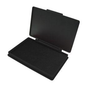 Подушка штемпельная настольная, 70 х 110 мм, КORES, чёрная, пластиковая.