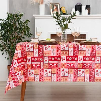 "Tablecloth ""Share"" Scandinavian figure 70*70 cm, 100% cotton, Gunny 162г/m2"