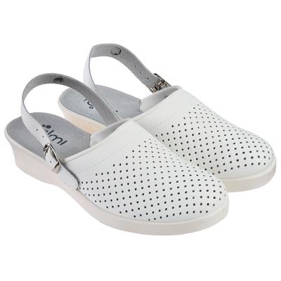 """Туфли-сабо женские """"Эмануэла"""", модель 6802-00101, размер 39, цвет белый"""