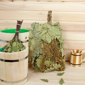 Broom for a bath EXTRA from Caucasian oak with sweet clover