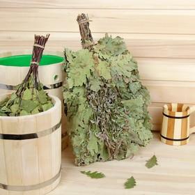 Веник для бани дубовый, 55 см с мятой