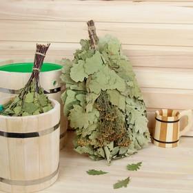 Веник для бани дубовый, 55 см с пижмой