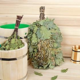 Веник для бани дубовый, 55 см с полынью