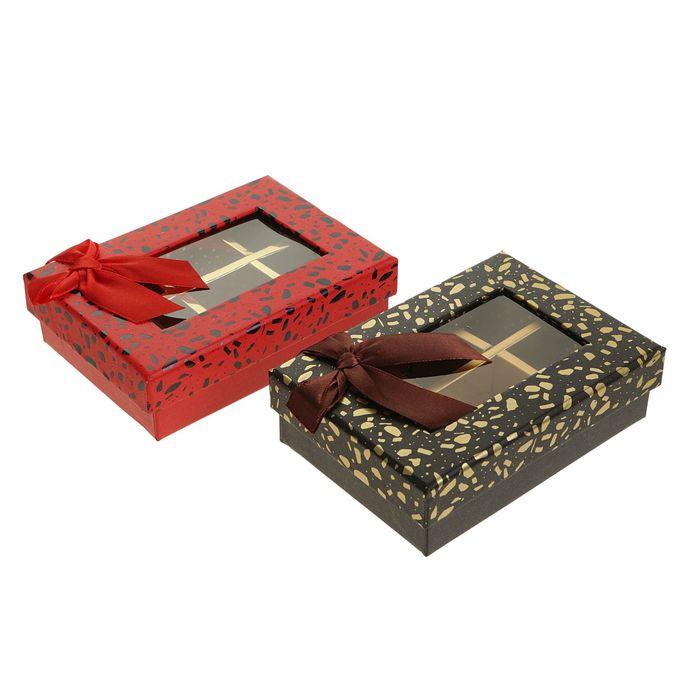 Коробка подарочная, цвет МИКС, 13 х 9 х 4 см - фото 308271719