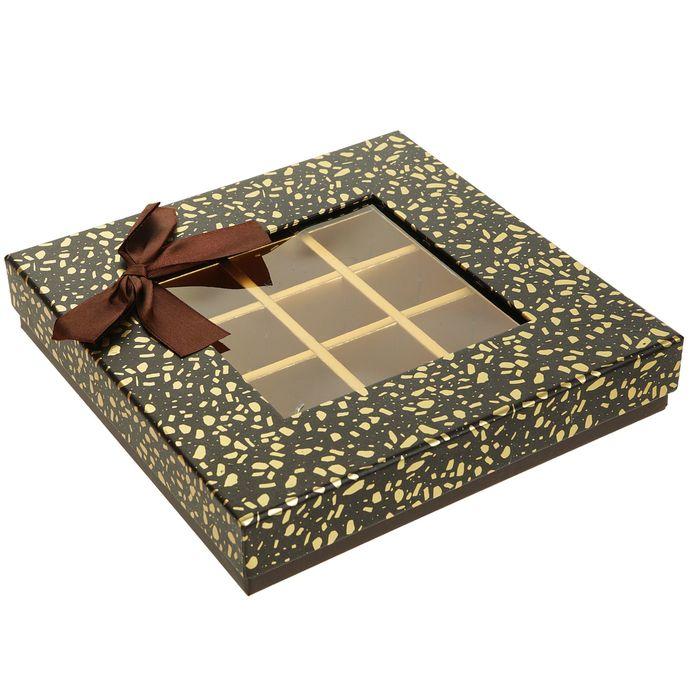Коробка подарочная 21 х 21 х 4 см - фото 8877579