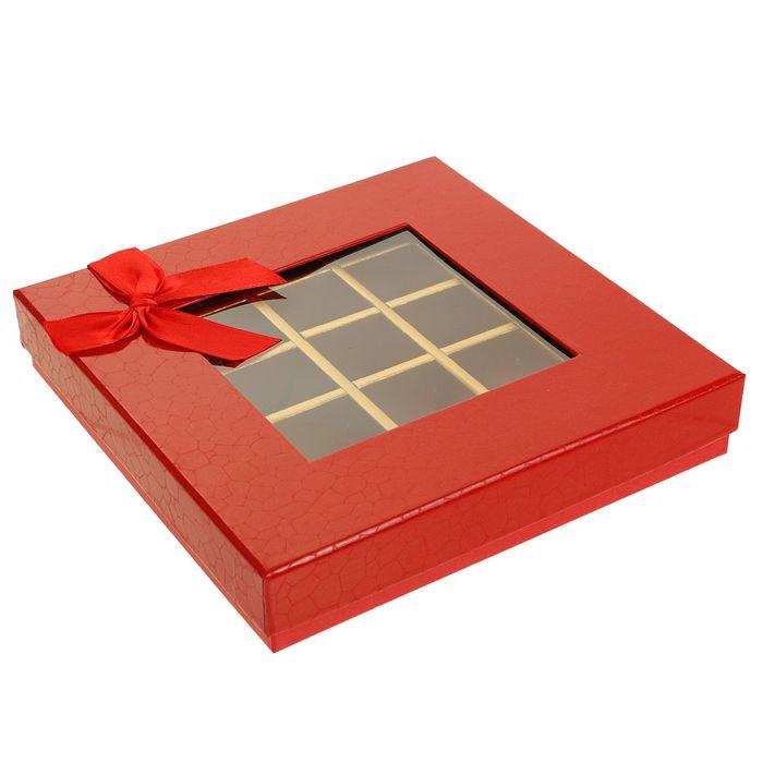 Коробка подарочная 21 х 21 х 4 см - фото 8877607