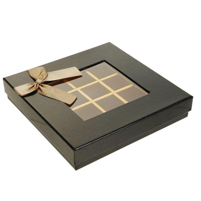 Коробка подарочная 21 х 21 х 4 см - фото 8877609