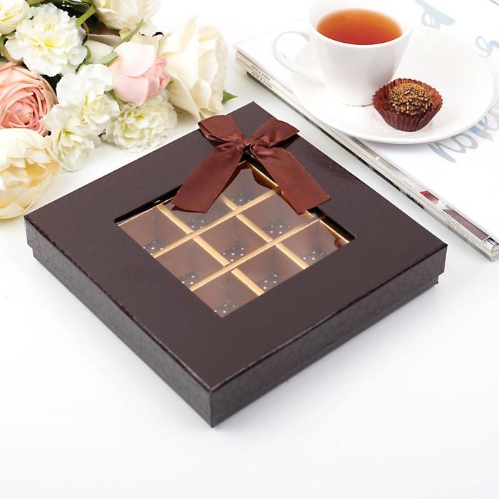 Коробка подарочная 21 х 21 х 4 см - фото 8877611