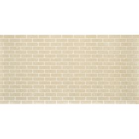 Панель МДФ листовая, кирпич, белый 2440 × 1220 мм