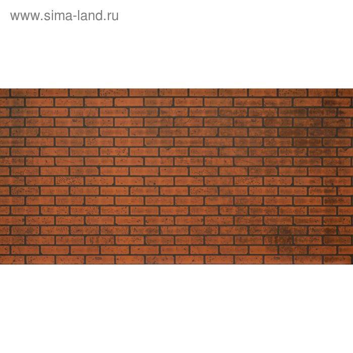 Панель МДФ листовая, кирпич, красно-коричневый, 2440 × 1220 мм