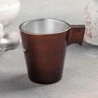 Кружка для кофе 80 мл Flashy Expresso Chocolate, цвет коричневый