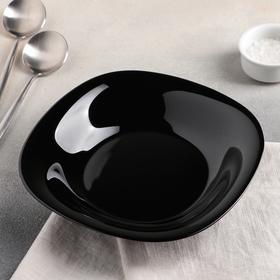 Soup plate 23.5 cm Carine Black.