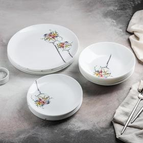 Table service Flore, 18 items.