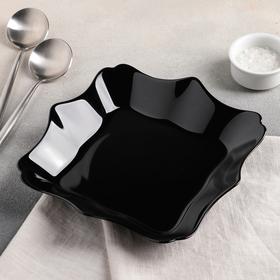Тарелка суповая 22 см Authentic Black, 600 мл