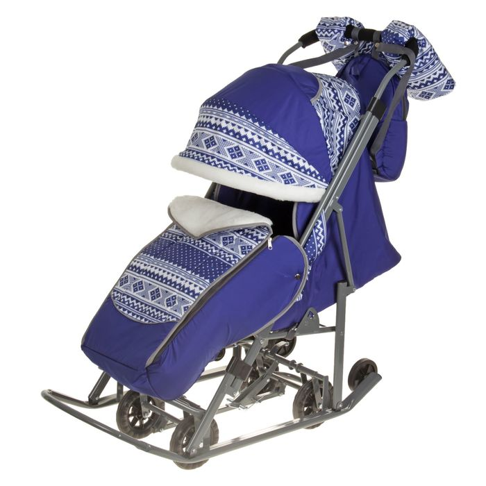 Санки-коляска «Скандинавия», цвет синий