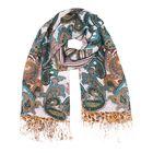 Палантин текстильный, размер 70х175, цвет разноцветный P2576_12-3