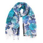 Палантин текстильный, размер 70х175, цвет голубой P2576_16-4