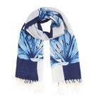 Палантин текстильный, размер 70х175, цвет голубой P2576_5-8