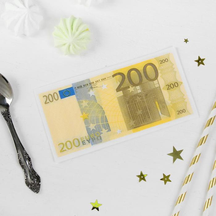 """Носовые платки бумажные """"200 евро"""""""