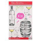 "Наклейки Decoretto ""Искусство пить вино"" 25х23 см"