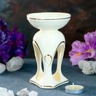 Аромалампа «Венеция» белая с золотом