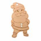 Деревянная заготовка - подвеска «Дед Мороз», 10 × 10 см