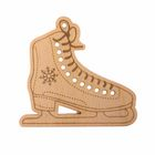 "Wooden blank - suspension ""Skates"", 10 × 10 cm"