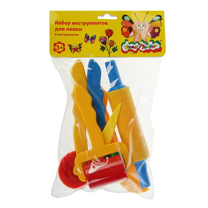 Набор для лепки «Каляка-Маляка», 6 предметов, пластик