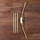 """Сувенир деревянный """"Лук и 3 стрелы"""", 55 см"""