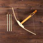 """Сувенир деревянный """"Арбалет и 3 стрелы"""", 50 см, массив бука"""