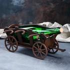 """Мини-бар деревянный """"Повозка"""", тёмный, 28 см - фото 181559"""