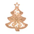 """Piece of wood - pendant """"Tree carved"""", 10 × 10 cm"""