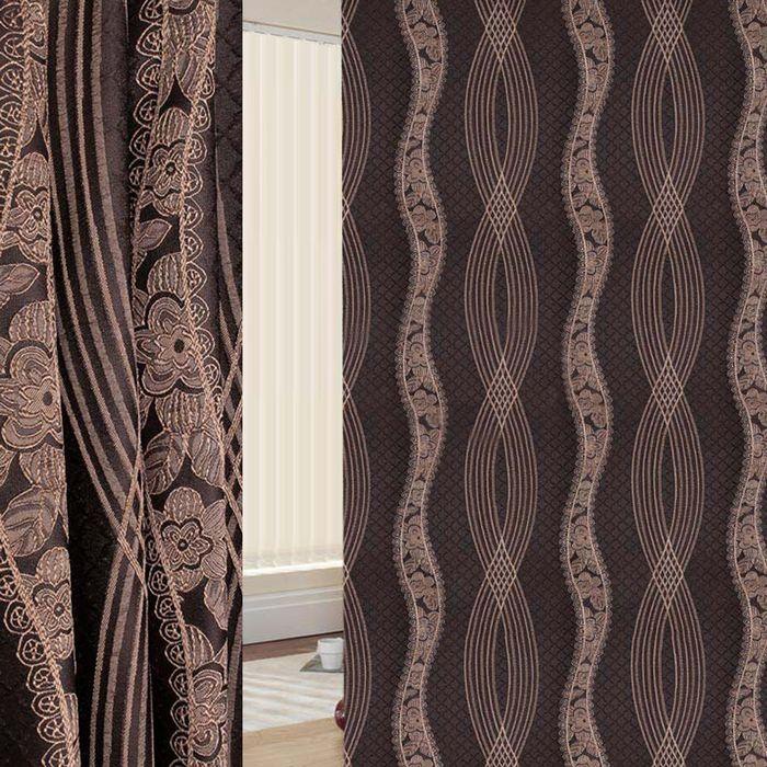 Ткань портьерная в рулоне, ширина 280 см, жаккард 86967