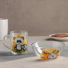 """Набор для завтрака """"Веселые зверюшки"""", 2 предмета: салатник 13 см, кружка 200 мл, рисунок МИКС"""