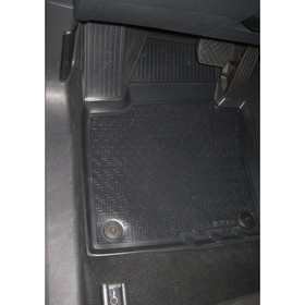 Коврики салона Rival для Volkswagen Jetta VI 2010-2015 2015-н.в., полиуретан, с крепежом, с перемычкой, 5 шт., 15802001 - фото 7426861