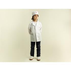 Карнавальный костюм «Доктор», халат с длинным рукавом, шапочка, рост 110-116 см